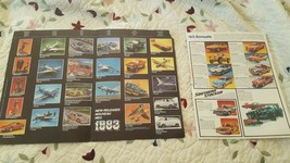 1983 Monogram Pamphlet & 1982 Fundimensions Paper With Trains, Cars & More Pics. - $9.89