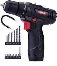 12V Max Cordless Drill, Compact Power Drill/Driver Tool Kit with Lithium... - $43.08