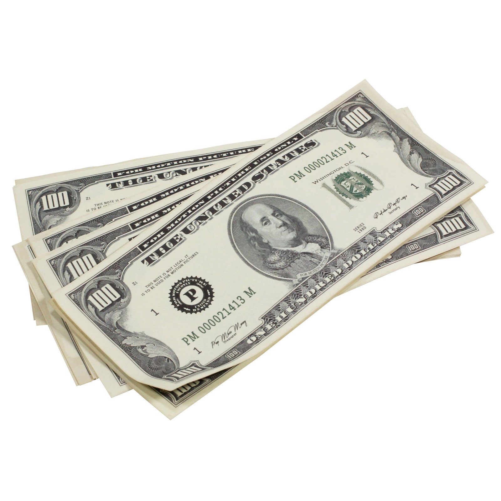 1980s Series $100s Aged $1,000,000 Full Print Package Realistic Prop Money image 6