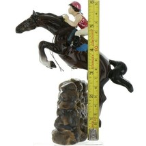 Hagen Renaker Specialty Horse Jumping with Rider Ceramic Figurine image 2
