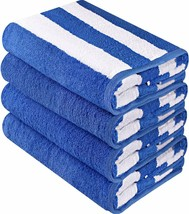 "4 Pack Cabana Stripe Extra Absorbent 30 x 60 "" Beach Pool Towel Utopia #... - $60.17"