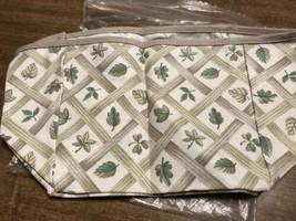 Longaberger Recipe Basket Fabric Liner Lattice Leaf Never Used 2741337 - $14.84
