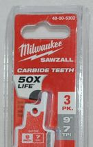Milwaukee 48005302 Sawzall Blade Carbide Teeth Nail Thick Metal image 3