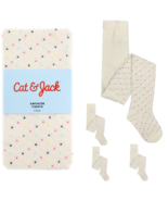 Girl's Sweater Tights 1 Pair Stockings Funfetti Cat and Jack Kid's - $8.99