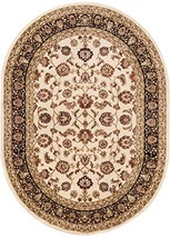"""Well Woven Barclay Sarouk Ivory Traditional Area Rug 5'3"""" X 6'10"""" Oval - $96.00"""