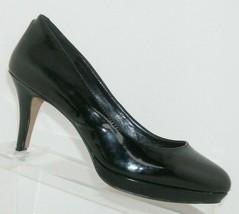 Vince Camuto Desti black patent leather almond toe slip on platform heels 7W - $32.37