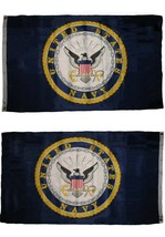 3x5 U.S. Navy Emblem Seal Double Sided Poly Flag 3'x5' with Brass Grommets - $16.88
