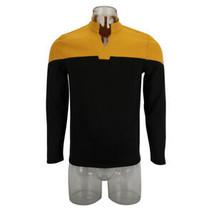 2019 Star Trek Gold Picard Startfleet Engineering Uniform Costume Shirt Top - $52.63