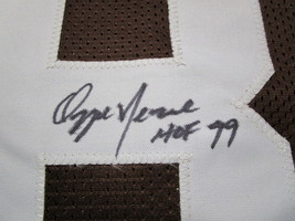 OZZIE NEWSOME / HALL OF FAME / AUTOGRAPHED CLEVELAND BROWNS CUSTOM JERSEY / COA image 4