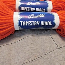 5 Bucilla 100%Tapestry Wool Color 008 Orange 40 Yard  Each - $15.83