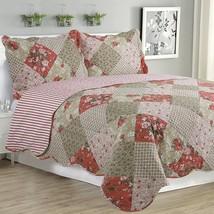 Kim 3 Piece Quilt Set Multi Color Floral - $65.98