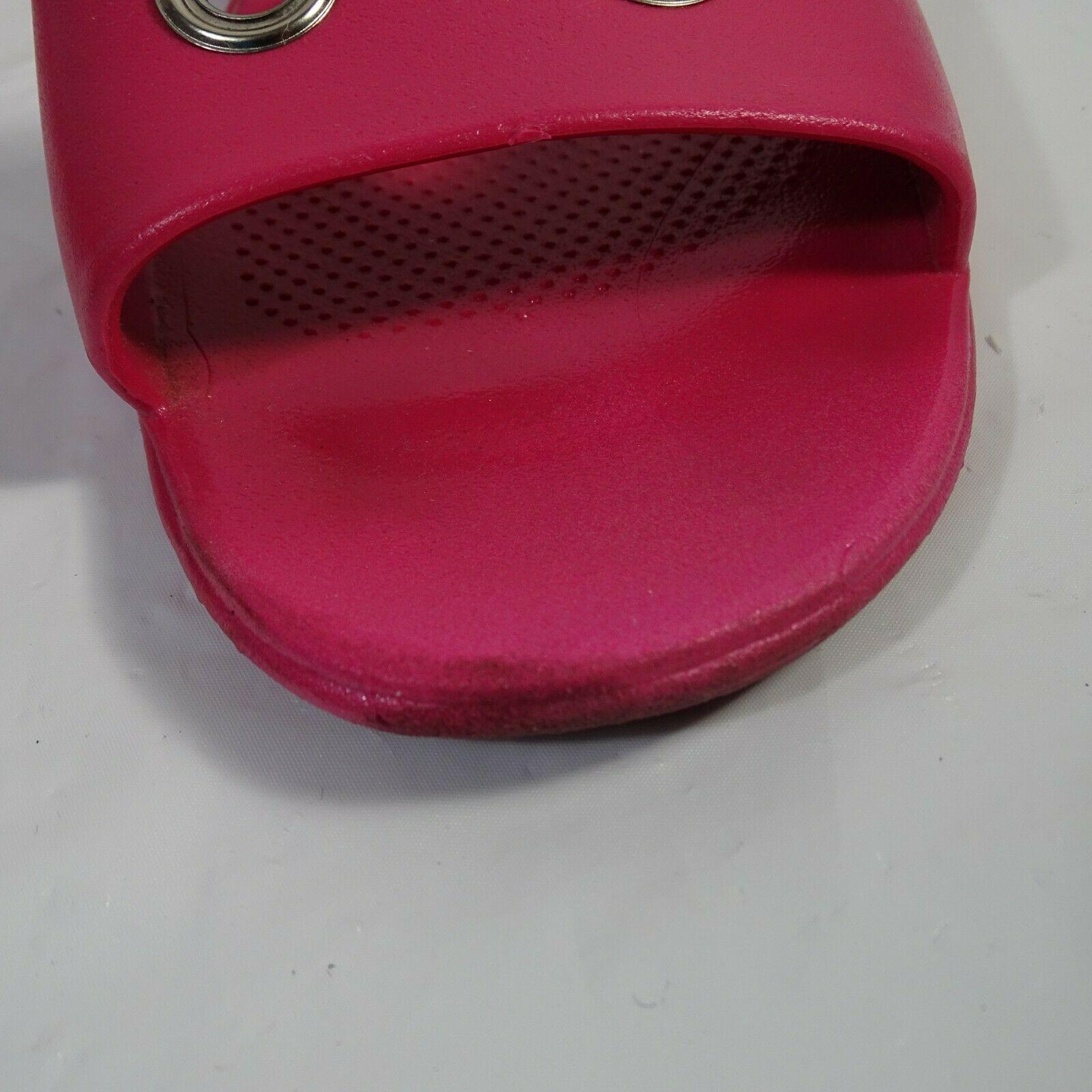 Okabashi Slides Sandals Woman Size M/L Hot Pink Slip-on Rubber