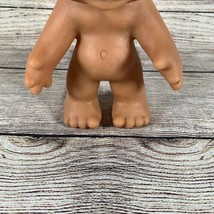Vintage 1977 Thomas Dam White Hair Brown Eyes Troll Doll Denmark - $34.64