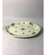 MEITO GARDEN ROSE Dish OFF WHITE CHINA Occupied Japan VINTAGE platter plate - $28.19