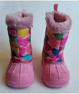 Baby Girl Toddler The Children's Place Size 5 Pink Hearts Zip Winter Sno... - $12.95