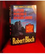 3 Complete Novels: Psycho,Psycho II &Psycho House-Robert Bloch SIGNED 1s... - $391.02