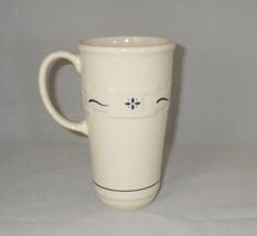 Longaberger Pottery Woven Traditions Blue Travel Mug or Latte Mug No Lid - $19.00