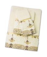 Popular Bath Savoy Bathroom 3 Piece Towel Set- Gold/Ivory - $32.95
