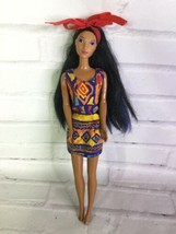 Vintage Mattel Disney Princess Pocahontas Doll With Dress Streaked Hair ... - $29.69
