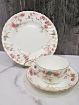 Minton Ancestral Trio Cup Saucer Dessert Plate - $31.68