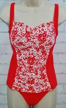 BLEU Rod Beattie Tankini Swimsuit Top & Bottom Ruched Size 8 Daisy Flora... - $34.64