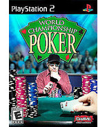 WORLD CHAMPIONSHIP POKER Playstation 2 PS2 Complete CIB w/ Box, Manual Good - $1.95