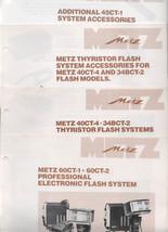 METZ  Brochures 40 Ct-1,60CT-1, 60CT-2, 34BCT-2 - $4.00