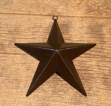 "Brown Metal Texas Lone Star 6 3/4"" tall & wide (ONE) Western Decor 16006B - $16.00"