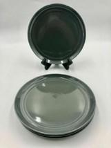Crate & Barrel Aaron Probyn HUE Grey DINNER Plates ~ Set of 4 - $25.69