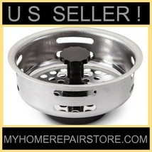 US SELLER! SUNBEAM STAINLESS STEEL KITCHEN SINK DRAIN STRAINER BASKET & ... - $7.18