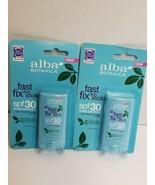 (2)Alba Botanica Fast Fix Sun Stick, 30 SPF, Sunscreen Block Exp: 10/20 ... - $12.73