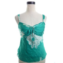 Ann Taylor Green Silk Blouse Petites 6p - $15.00