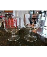 Vintage Griesedieck Bros Budweiser Glasses Goblets Thumbnail Thumbprint ... - $43.77
