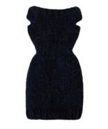 Barbie Doll Clothes Knit Alpaca Blend Navy Blue Sweater Dress Handmade - $6.99
