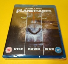 Planet of the Apes Trilogy (Bluray,REGION FREE) NEW-Free Shipping with T... - $19.78
