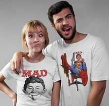 MAD Magazine SUPERMAN T-shirt Alfred E Newman DC Comics cotton tee  WBT345 image 3
