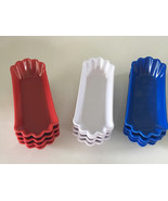 Set of 4 Melamine Reusable Hot Dog Trays Plates Holders in Paper Plate S... - $25.59