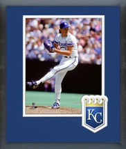 Bret Saberhagen 1990 Kansas City Royals Legend-11x14 Logo Matted/Framed Photo - $43.55