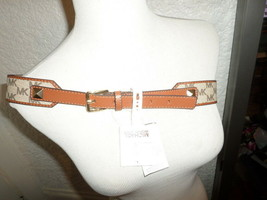 Michael Kors Synthetic Leather Signature Belt NWT - $36.77