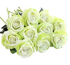 Koala Superstore 10 Pieces Artificial Rose Flowers Bouquet Wedding Party Home De - $27.63