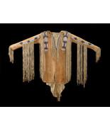 New Men Native American Handmade Beads Buckskin Goat Hide Powwow War Shi... - $299.00