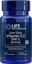 NEW Life Extension Low-Dose Vitamin K2 MK-7 Non-GMO 90 Softgels - $15.41