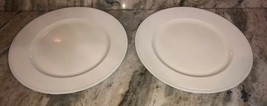 """White Spotted 13"""" Charger Plates-Set of 2-Made of Thick Plastic-NEW-SHIP... - $18.69"""