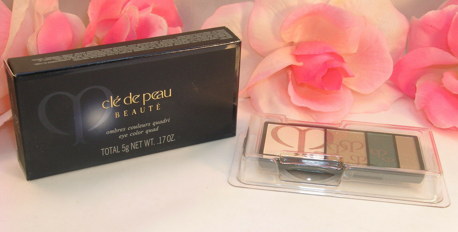 Primary image for New Shiseido Cle De Peau Beaute Eye Shadow Quad Refill #201 Colors & Highlights