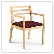 Steelcase Sawyer Wood Guest Chair by Steelcase, Fabric = Burgundy; Finish = Clea - $393.00