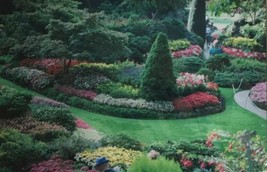 """Matted 18"""" x 12"""" Color Photograph Butchart Gardens Canada Green image 2"""