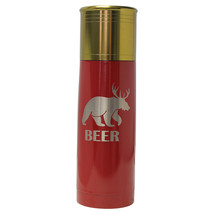 Bear Deer Beer -Engraved 25 oz Red Shot Gun Shell Double Wall Insulated ... - $34.25