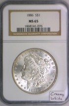 1886 Morgan Dollar NGC MS-65; Creamy White! - $168.29
