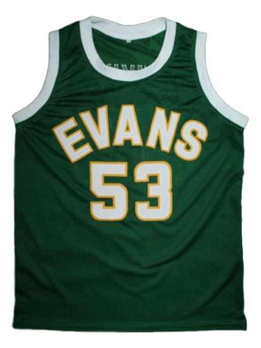 Darryl dawkins evans high school basketball jersey green   1