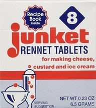 Junket Rennet Tablets 8 Count Box Cheese Custard Ice Cream - $3.91